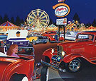 Sammy' Playland limited edition print, 32 Ford 3W coupe hot rod