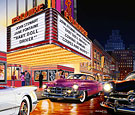 Esquire Theater Limited Edition print, 53 Cadillac, 53 Corvette