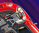 Automotive technical illustration of Dodge Viper chassis