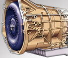 Automotive technical illustration of automatic transmission=
