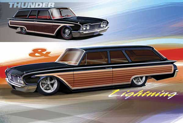 Concept Art Of Muscle Cars And Hot Rods