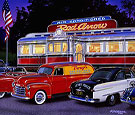 Red Arrow Trolly Car Dinner Limited Edition Print